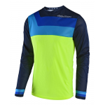 Troy Lee Designs Cross Shirt 2018 GP AIR Prisma - Jeugd - Flo Geel
