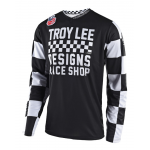 Troy Lee Designs Cross Shirt 2018 GP Checker - Zwart