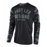 Troy Lee Designs Cross Shirt 2018 GP Cosmic Camo - Grijs
