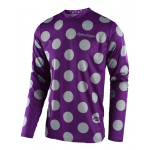 Troy Lee Designs Cross Shirt 2018 GP Polka Dot - Paars / Grijs