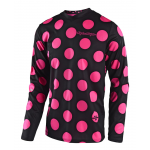 Troy Lee Designs Cross Shirt 2018 GP Polka Dot - Zwart / Flo Roze