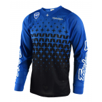Troy Lee Designs Cross Shirt 2018 SE AIR Megaburst - Blauw / Zwart