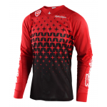 Troy Lee Designs Cross Shirt 2018 SE AIR Megaburst - Rood / Zwart