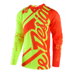 Troy Lee Designs Cross Shirt 2018 SE AIR Shadow - Flo Geel / Oranje