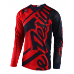 Troy Lee Designs Cross Shirt 2018 SE AIR Shadow - Rood / Navy