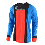 Troy Lee Designs Cross Shirt 2018 SE AIR Squadra - Cyan / Oranje