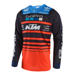 Troy Lee Designs Cross Shirt 2018 SE AIR Streamline Team - Navy / Oranje