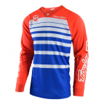 Troy Lee Designs Cross Shirt 2018 SE Streamline - Blauw / Oranje