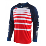 Troy Lee Designs Cross Shirt 2018 SE Streamline - Rood / Navy