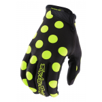 Troy Lee Designs Crosshandschoenen 2018 AIR Polka Dot - Zwart / Flo Geel