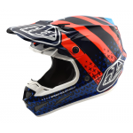 Troy Lee Designs Crosshelm 2018 SE4 Carbon Streamline - Navy / Oranje