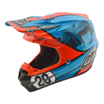 Troy Lee Designs Crosshelm 2018 SE4 Composite McQueen - Blauw / Oranje