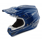 Troy Lee Designs Crosshelm 2018 SE4 Polyacrylite Pinstripe - Blauw