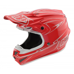 Troy Lee Designs Crosshelm 2018 SE4 Polyacrylite Pinstripe - Rood