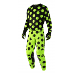Troy Lee Designs Crosskleding 2018 GP AIR Polka Dot - Jeugd - Zwart / Flo Geel