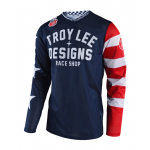 Troy Lee Designs Cross Shirt 2019F GP AIR Americana - Navy