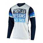 Troy Lee Designs Cross Shirt 2019F GP AIR Carlsbad - Wit / Navy