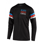 Troy Lee Designs Cross Shirt 2019F GP AIR Saddleback - Zwart / Cyan