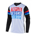 Troy Lee Designs Cross Shirt 2019F GP Carlsbad - Wit / Zwart