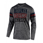 Troy Lee Designs Cross Shirt 2019F GP Elsinore - Heather Grijs / Navy