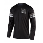 Troy Lee Designs Cross Shirt 2019F GP Saddleback - Zwart / Grijs