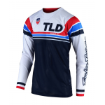 Troy Lee Designs Cross Shirt 2019F SE AIR Seca - Wit / Donker Navy