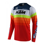Troy Lee Designs Cross Shirt 2019F SE Pro Mirage KTM - Wit / Rood
