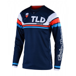 Troy Lee Designs Cross Shirt 2019F SE Seca - Donker Navy / Oranje