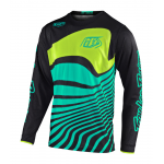 Troy Lee Designs Cross Shirt 2020F GP AIR Drift - Zwart / Turquoise