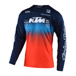 Troy Lee Designs Cross Shirt 2020F GP AIR STAIN'D Team - Navy / Oranje
