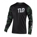 Troy Lee Designs Cross Shirt 2020F GP Camo - Groen / Zwart