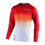 Troy Lee Designs Cross Shirt 2020F GP STAIN'D - Rood / Wit