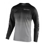 Troy Lee Designs Cross Shirt 2020F GP STAIN'D - Zwart / Grijs