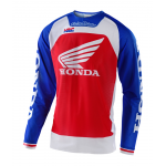 Troy Lee Designs Cross Shirt 2020F SE Pro AIR Boldor Honda - Blauw / Rood