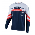 Troy Lee Designs Cross Shirt 2020F SE Ultra Factory Team - Wit / Navy