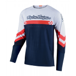 Troy Lee Designs Cross Shirt 2020F SE Ultra Factory - Wit / Navy