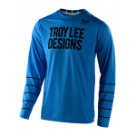 Troy Lee Designs Cross Shirt 2020S GP AIR Pinstripe - Ocean / Zwart