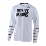 Troy Lee Designs Cross Shirt 2020S GP AIR Pinstripe - Wit / Zwart