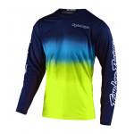 Troy Lee Designs Cross Shirt 2020S GP AIR STAIN'D - Navy / Geel