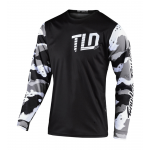 Troy Lee Designs Cross Shirt 2020S GP Camo - Wit / Zwart