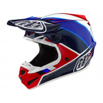 Troy Lee Designs Crosshelm 2019F SE4 Polyacrylite Beta - Rood / Blauw