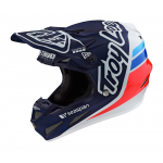 Troy Lee Designs Crosshelm 2021S SE4 Composite Sillhouette Team - Navy / Wit