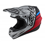 Troy Lee Designs Crosshelm 2021S SE4 Composite Sillhouette - Zilver / Zwart