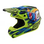 Troy Lee Designs Crosshelm 2020S SE4 Composite Eyeball - Navy / Geel