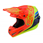 Troy Lee Designs Crosshelm 2020S SE4 Composite Sillhouette - Oranje / Geel