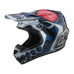 Troy Lee Designs Crosshelm 2020S SE4 Polyacrylite Skully - Zilver