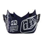 Troy Lee Designs Helmklep 2019F SE4 Carbon Sillhouette - Blauw / Wit