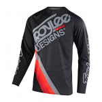Troy Lee Designs Kinder Cross Shirt 2021S GP AIR Tilt - Zwart / Donker Grijs