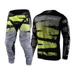 Troy Lee Designs Crosskleding 2021F GP Brushed - Zwart / Flo Groen