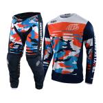 Troy Lee Designs Crosskleding 2021F GP Formula - Camo Navy / Oranje